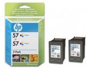 HP 57 2-pack Tri-color Inkjet Print Cartridges (C9503AE)